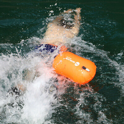 Safety Swim Buoy Tow Float Inflated Airbag Swimming Flotation Aid for Open Water