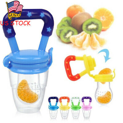 US Baby Dummy Feeding Nibbles Weaning Nutrition Pacifier Fresh Fruit Food Feeder