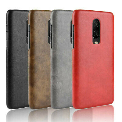 For OnePlus 6 / 6T Retro Leather Fabric Coated hard case cover