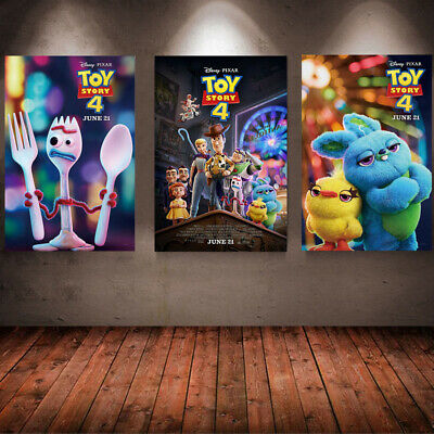 Toy Story 4 Movie Poster 2019 Wall Art Maxi  Prints New Film Cinema Posters