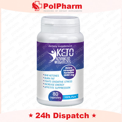 KETO Advanced Weight Loss Diet Ketosis Supplements To Fat Burn & Carb 80 caps