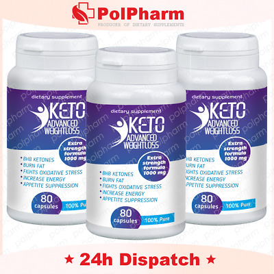 3x KETO Advanced Weight Loss Diet Ketosis Supplements To Fat Burn & Carb 80 caps