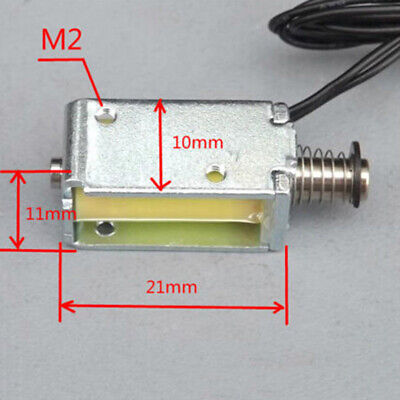 12V DC suction micro electromagnet spring push pull type rod solenoid magnet ~PL