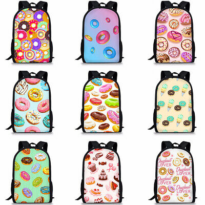 New School Backpack Girls Doughnut Casual Book Bag Outing Travel Rucksack Womens