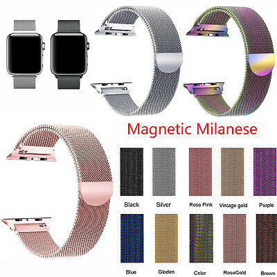 Magnetic Milanese Loop Wristwatch Bands Strap For Apple Watch Series 4 40MM 44MM