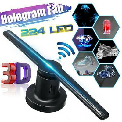 3D Wifi 160° Holographic Hologram LED Fan Projector Advertising Displayer 16G