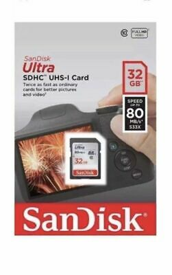 SanDisk Ultra 32 GB, Class 10 (80MB/s) - SDHC Card Memory Card  For Camera Phone