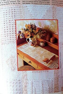 Loom Weaving texures, Table Mats And Runner ,Pattern