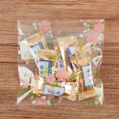 Self Seal Adhesive Love Heart Plastic Cellophane Cookie Candy Gift Food Bag WL