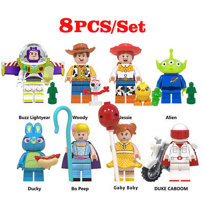 Toy Story 4 Buzz Lightyear Woody Jessie Ducky Bo Peep Duke Alien Building Blocks
