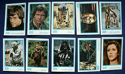 1984 Kellogg's Star Wars - Stickers White Border Card SET (10) - EX+/NM