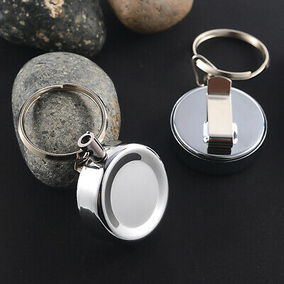 1/5/10Pcs Durable Retractable Metal Anti-Lost Anti-Theft Keyring with Back Clip