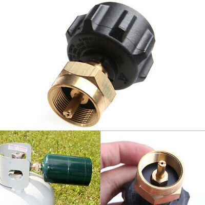 Gold Metal Propane Refill Adapter Canister Valve Gas Propane Cylinder Coupler