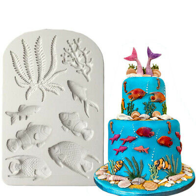 Fondant Ocean Silicone Mold Pastry Making Cake Decorating Tools Baking Mould