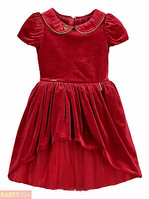 Girls Disney Boutique Snow White Red Velvet Dress Party Outfit Christmas Winter