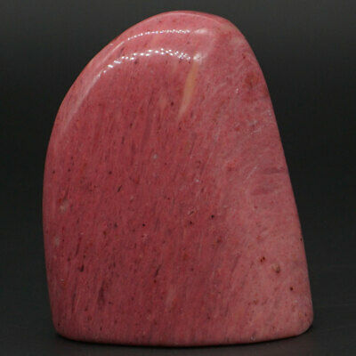 125g Natural Pink Rhodonite Palm Stone Raw Materials Specimen Crystal Rock