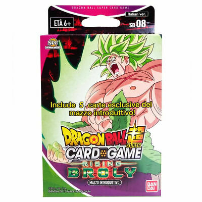 DRAGON BALL SUPER card game RISING BROLY mazzo introduttivo 08 in italiano