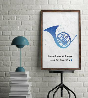 Blue French Horn Ted Mosby Quote How I Met Your Mother Couples Wall Art Print