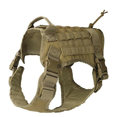 K9 Tactical Training Dog Harness Military Police-Adjustable Molle Nylon Vest