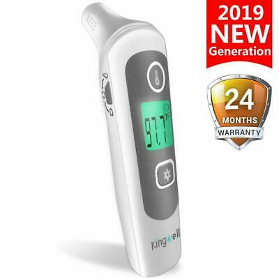 Kingwell Infrared Forehead And Ear Thermometer For Fever - Instant Read Baby The