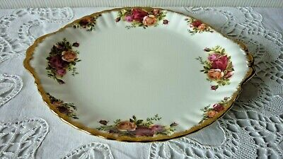 Royal Albert England Old Country Roses Cake Plate