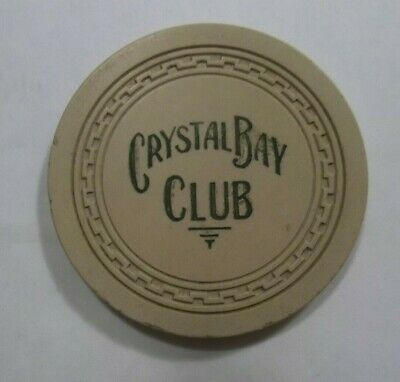 Crystal Bay Club ☀ North Lake Tahoe Nv Casino Poker Chip Authentic 1st