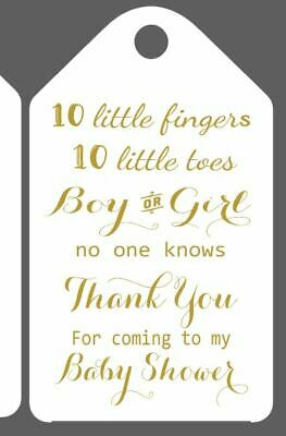 Bespoke Baby Shower Favour Thank You Tags