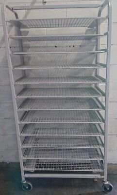 Commercial Mobile Bakery 12 Bay Powder Coated Bakers Rack With Baking Wires
