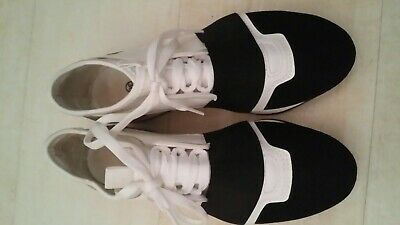 Womens Girls black and white  style trainers pumps size 3/36 unbranded worn once