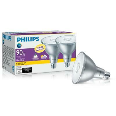 6 Pack Philips120w Rep 14W LED PAR38 Flood Lights Classic Glass in//outdoor