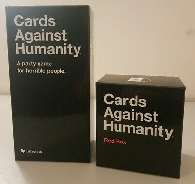 Cards Against Humanity UK Edition + Red Box  bundle - adult party game, ages 17+