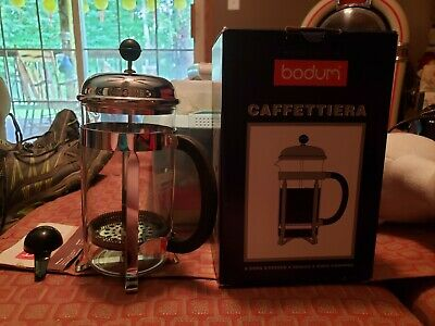 Vintage New Bodum Chambord 8 Cup French Press Coffee Maker 1928-36 Portugal
