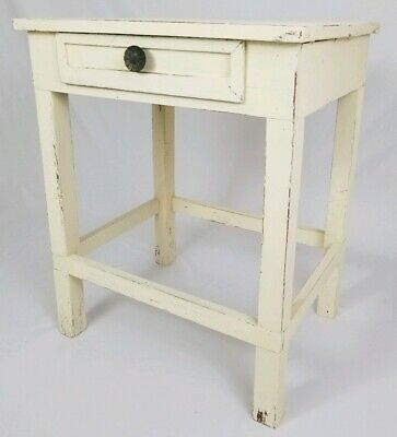 Antique Wooden Wash Stand Work Table With Drawer Country Primitive Farmhouse