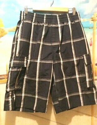 SHAKA Wear Men's Black & White Checkered Shorts Size Large - NEW & Awesome