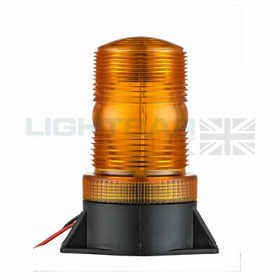 High Profile Two Bolt Mount Fork Lift Flashing Amber LED Strobe Beacon