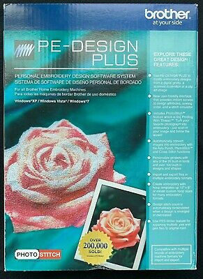 Brother Babylock PE-DESIGN PLUS Embroidery Software~Photo Stitch~NEW IN BOX