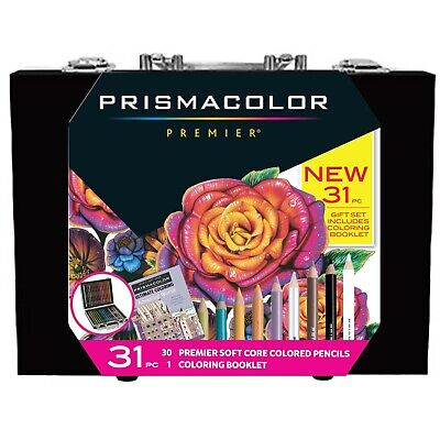 Prismacolor Premier Soft Core Colored Pencils 30 Pencils + 1 Coloring Book Set