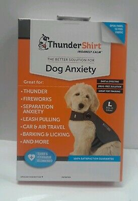 ThunderShirt insanely calm Dog Anxiety  L solid gray New
