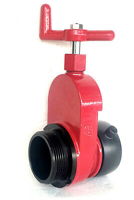 "2-1/2"" Aluminum Hydrant Gate Valve FNST x MNST Non-Rising 175Psi Speed Handle"