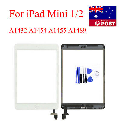 For iPad mini 1 2 Touch Screen Digitizer Replacement Lens+ Home Button + IC Chip