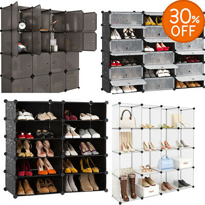 DIY Modular Shelving Storage Unit Organised Closet Wardrobe Clothes Cabinet UK