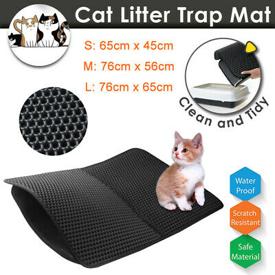 Foldable Cat Litter Mat Trapping Honeycomb Double Layer Waterproof Large Pad NEW