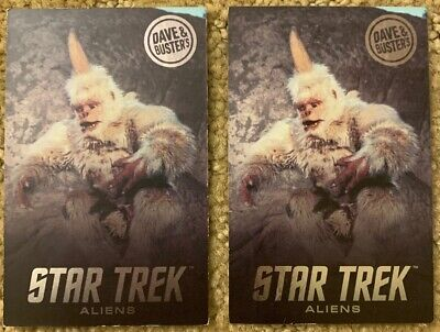 TWO (2) RARE Mugato Star Trek Aliens Cards Dave & Busters