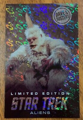 RARE LIMITED EDITION Mugato Star Trek Aliens Card Dave & Busters