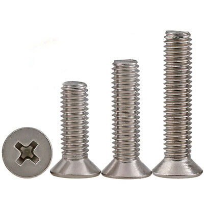 M1 M1.2 M1.4 M1.6 Stainless Steel Countersunk Flat Head Cross Miniature Screw