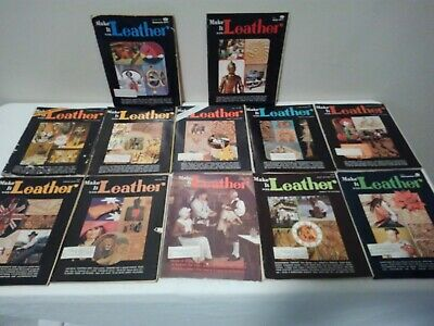 (12) Vintage Make it with Leather Magazines Complete with Pull-Outs & Extra