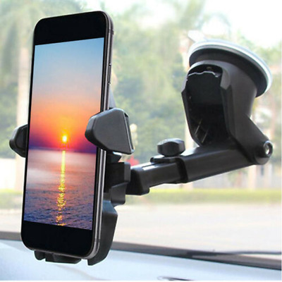 Mobile Phone Holder Bracket Stand 360 Rotatable Car Windscreen Suction Cup