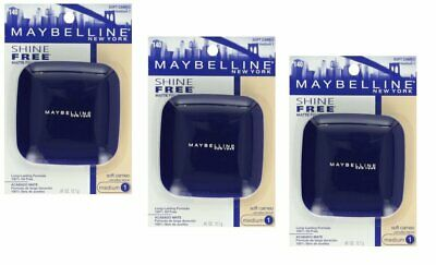 Pack of 3 Maybelline Shine Free Matte Finish Pressed Powder , 140 - Soft Cameo