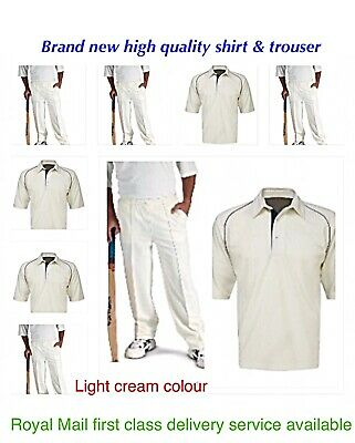 NEW men cricket shirt white tops and trusses bottom cricket clothing