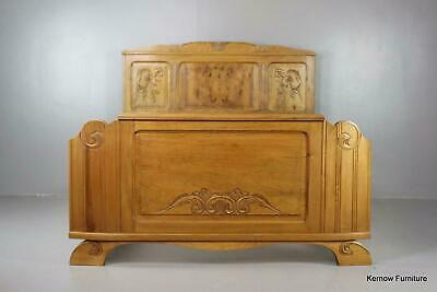 Early 20th Century Art Deco1930s Vintage French Chestnut Bed Frame